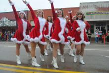 Legacy High School's Silver Spurs performed in downtown during the parade despit